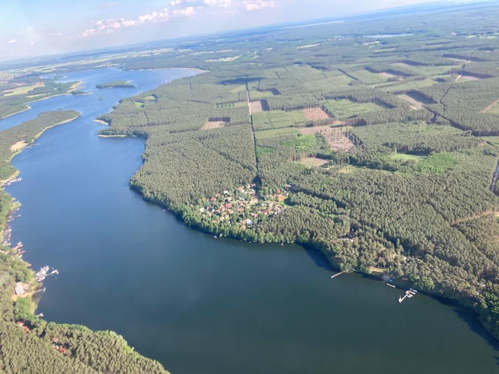 jezioro sławskie z lotu ptaka